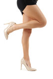 Female legs in high-heeled shoes Stock Photography