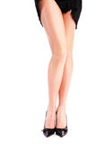 Female legs and high heels Stock Images