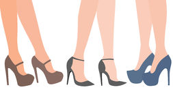 Female legs. In high heels Royalty Free Stock Image