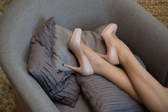 Legs are tired Royalty Free Stock Image