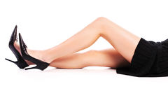 Female legs and high heels Royalty Free Stock Photography