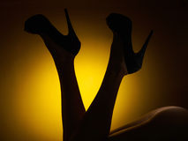 Female legs in high heels Stock Photos