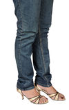 Female legs in jeans Stock Photo