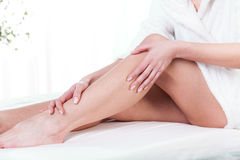 Female legs after massage Royalty Free Stock Photo
