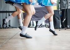 Female Legs Of Three Irish Dancers Stock Photography