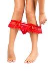 Female legs with panties Stock Photos