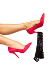 Female legs with panties Stock Photography