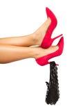 Female legs with panties Royalty Free Stock Photos