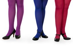 Female legs in pantyhose Royalty Free Stock Photography