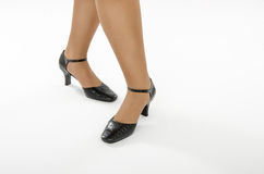 Woman legs are ready to dance Royalty Free Stock Images