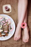 Female legs in salon Royalty Free Stock Photography