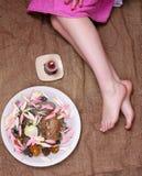 Female legs in salon Stock Photo