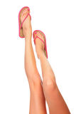 Female legs with sandals royalty free stock photo