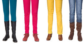 Female legs and shoes royalty free stock image