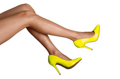 Female legs. In shoes isolated on white background Stock Photo