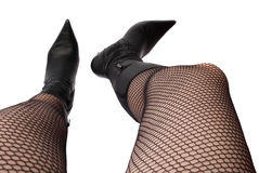 Female legs shot from top Royalty Free Stock Photo