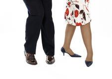 Pair legs show salsa pose Royalty Free Stock Photo