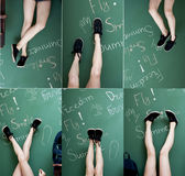 Female legs in sport shoes. Stock Photography