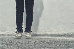 Female legs on the street Stock Image