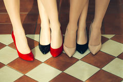 Female legs in stylish shoes Royalty Free Stock Photo