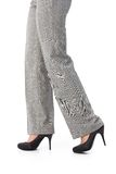 Female legs in trousers and high heels Royalty Free Stock Images