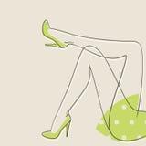 Female legs, vector Royalty Free Stock Photos