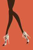 Female legs. Vector illustration Royalty Free Stock Image