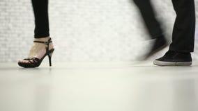 30e2d4f8cd1 Female Legs Walking High Heel Shoes Stock Footage   Videos - 236 ...