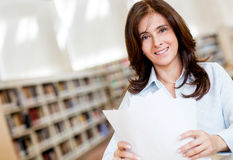 Female librarian Stock Images