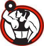 Female Lifting Dumbbell Fitness Side Circle Stock Image