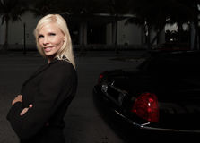 Female Limo Driver Stock Photography