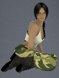 Female lin the army Stock Photography