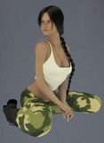 Female lin the army Stock Images