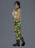 Female lin the army Royalty Free Stock Photo