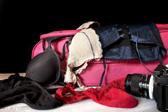 Female lingerie and accessories Royalty Free Stock Photo