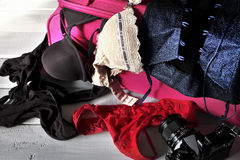 Female lingerie and accessories Royalty Free Stock Photos
