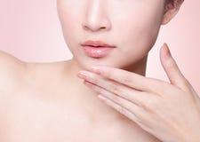 Female lips closeup Royalty Free Stock Photo