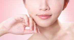 Female lips closeup Stock Photos