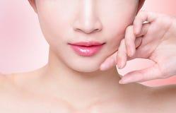 Female lips closeup Stock Image