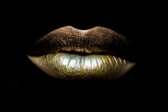 Female lips closeup Royalty Free Stock Photo