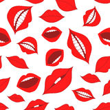 Female lips seamless pattern Stock Image