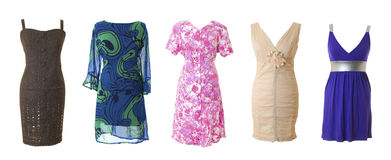 Female long dress collection #1   Isolated Royalty Free Stock Photo