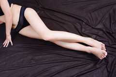 Female long legs Royalty Free Stock Photos