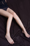 Female long legs Royalty Free Stock Photo