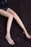 Female long legs Royalty Free Stock Photo