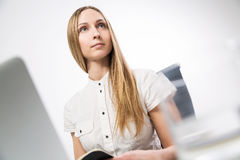 Female looking away Stock Images