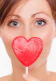 Female love portrait Stock Images