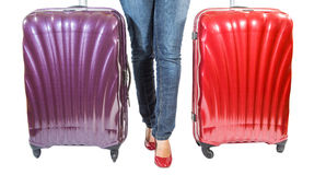 Female and Luggages I Royalty Free Stock Photo