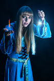 Female magician Royalty Free Stock Photos