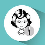 Female makeup design. Illustration eps10 graphic Royalty Free Stock Photos